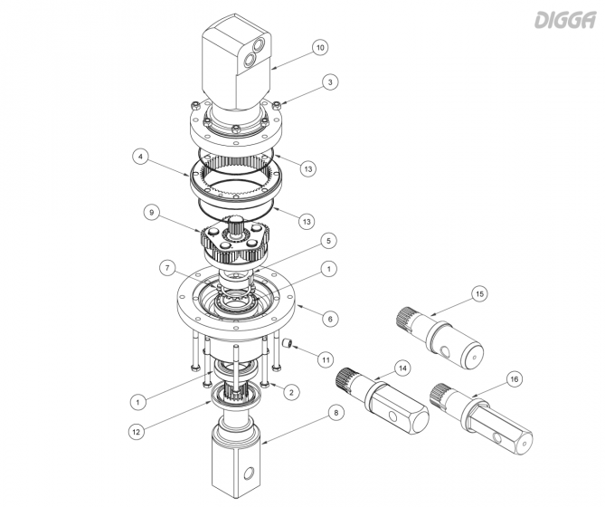 PD5 - Gearbox Assembly