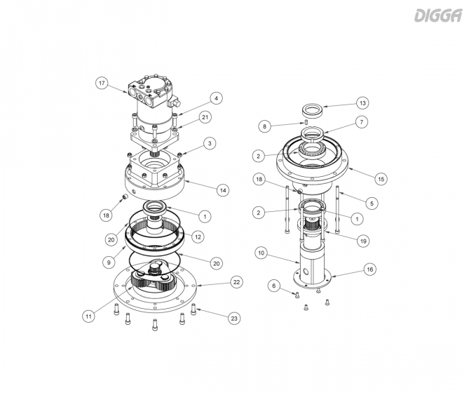 PDT12 - Gearbox assembly
